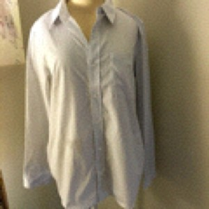Lulu*s Button Down Shirt Blue and white