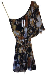 Fire short dress MULTI One Shoulder Print Tunic on Tradesy