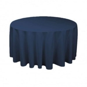 Navy Blue 120 Inch Round - Jill H. Tablecloth