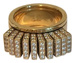 Cartier Cartier 18KT Yellow Gold Diamond Flexible Movable Fan Wedding Band Ring SIZE 56