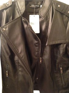 Zara Leather Motorcycle Jacket