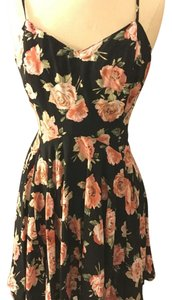 Forever 21 short dress Black and Blush Floral on Tradesy