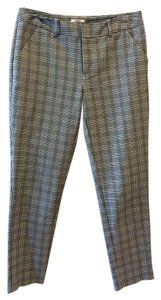 Merona Stretch Plaid Capris BLACK AND WHITE