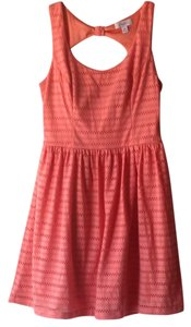 Candie's short dress Coral/Peach on Tradesy
