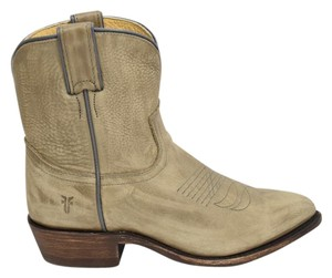 Frye Moto Motocycle Biker grey light tan Boots
