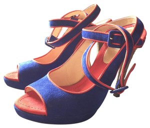 Moschino Royal Blue/Red Sandals