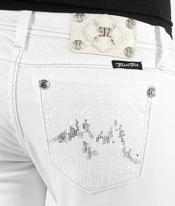 Miss Me The Buckle Skinny Jeans-Coated