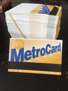 Yellow Black Blue Nyc Metrocard-themed Reception Escort Cards (154 Count)