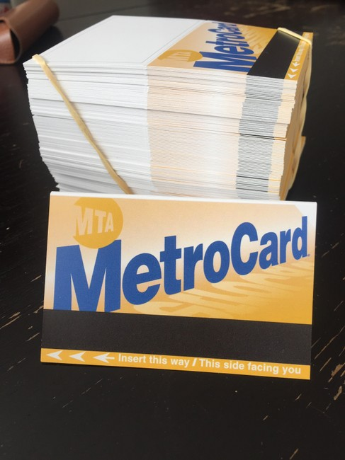 Item - Yellow Black Blue Nyc Metrocard-themed Reception Escort Cards (154 Count)