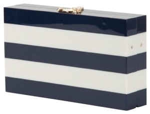 Charlotte Olympia Blue And White Clutch