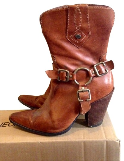 Harley Davidson Western Cowboy Cowgirl Harness Leather Boots