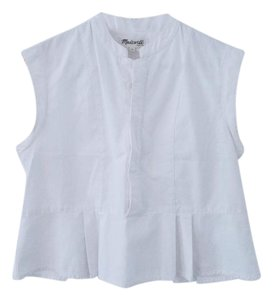 Madewell Cotton Summer Button Up Top White