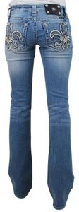 Miss Me The Buckle Boot Cut Jeans-Light Wash