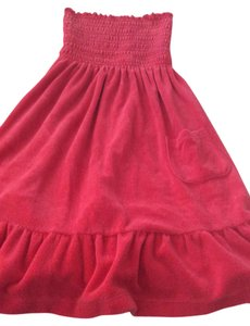 Juicy Couture short dress Red Summer Beach Pool Strapless on Tradesy