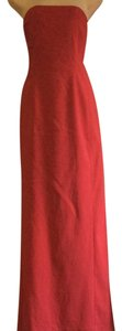 Shape FX Elegant Stretch Red Maxi Strapless Gown Dress
