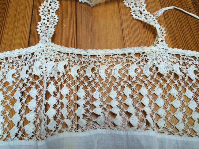 Vintage Crocheted Lace Top White