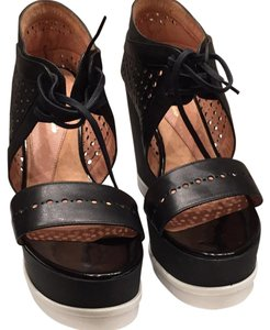 Robert Clergerie Black with white soles Wedges
