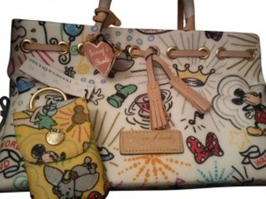 Preload https://item3.tradesy.com/images/dooney-and-bourke-sketch-white-multicolor-print-nylon-leather-and-metal-satchel-165957-0-0.jpg?width=440&height=440