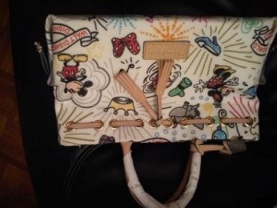 Dooney & Bourke Satchel in white multicolor print