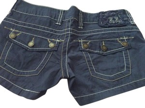 Twill Twenty Two 22 Summer Mini/Short Shorts Blue
