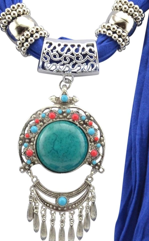 Blueturquoisesilver bogo jeweled pendant free with purchase free unknown bogo jeweled scarf pendant free scarf with purchase free shipping aloadofball Image collections