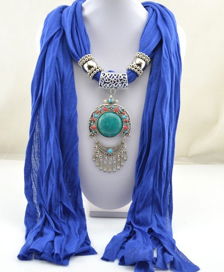 Unknown BOGO Jeweled Scarf Pendant Free Scarf With Purchase Free Shipping