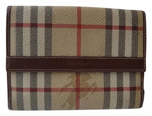Burberry Authentic Burberry Nova Check Brown Leather Wallet