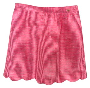Lilly Pulitzer Skirt Pink, White Checked