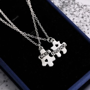 Best Friends Forever 2pc Necklace Set Free Shipping