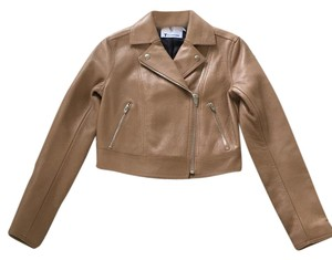 T by Alexander Wang Tan Leather Jacket