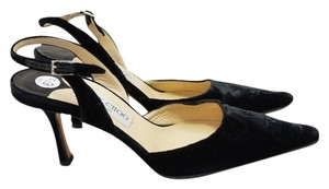 Jimmy Choo Velvet Black Pumps