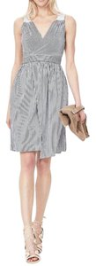 Banana Republic short dress White and blue striped on Tradesy