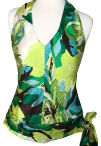 Banana Republic Tropical print Halter Top
