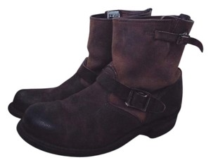 Frye Engineer Ankle Brown Boots