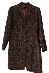Carole Little Night Out Cover Up Brocade Trench Trench Coat