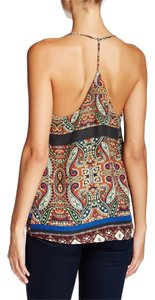 Collective Concepts Cami Top Brown Navy Paisley Print