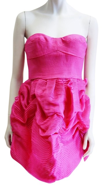Stella McCartney Strapless Bustier Full Pleated Ruffle Small Cocktail Homecoming Prom Dress