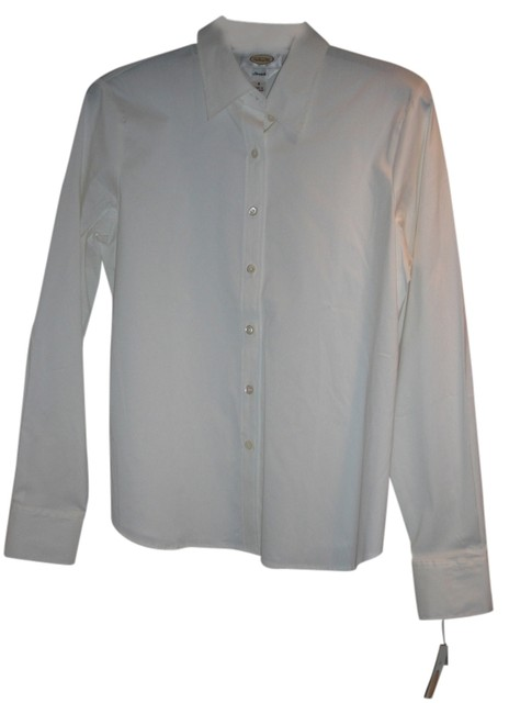 Preload https://item3.tradesy.com/images/talbots-white-stretch-blouse-button-down-top-size-8-m-1659722-0-0.jpg?width=400&height=650