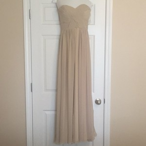 Bari Jay Beige Bridesmaid Dress Dress