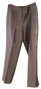 Sigrid Olsen Satin Lined Slate Straight Pants Grey /Silver