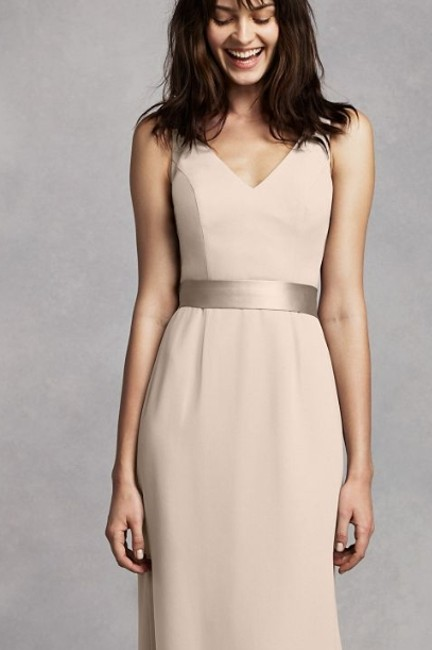 Item - Champagne Vw360195 Formal Bridesmaid/Mob Dress Size 4 (S)
