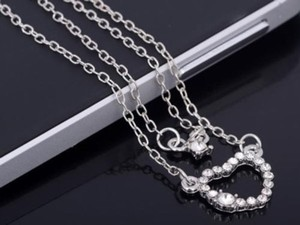 Rhinestone Layered Necklace Free Shipping
