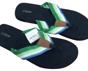 J.Crew Blue and green Sandals