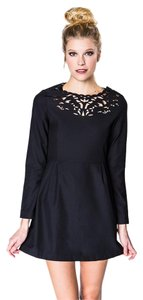 Sister Jane short dress Black Fossil Cut-out on Tradesy
