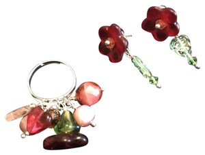 Last Chance!! Flower Earrings And Ring