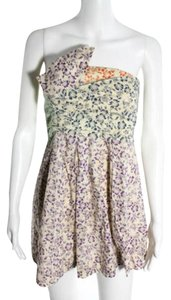 See by Chloé short dress Cream Strapless Floral Paisley Boho Summer on Tradesy