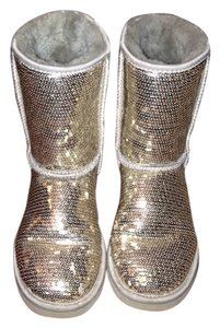 UGG Boots Sparkle Shiny Silver Boots
