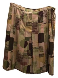 Banana Republic Skirt Multi fall colors with greens and browns