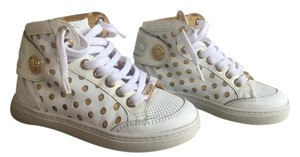 Versace Young Hi Top White & Gold Athletic