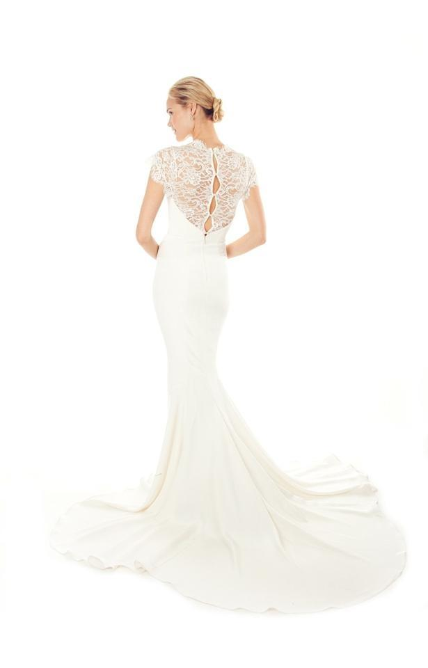 Nicole Miller Antique White Silk and Lace Lauren Bridal Gown Hk0006 ...